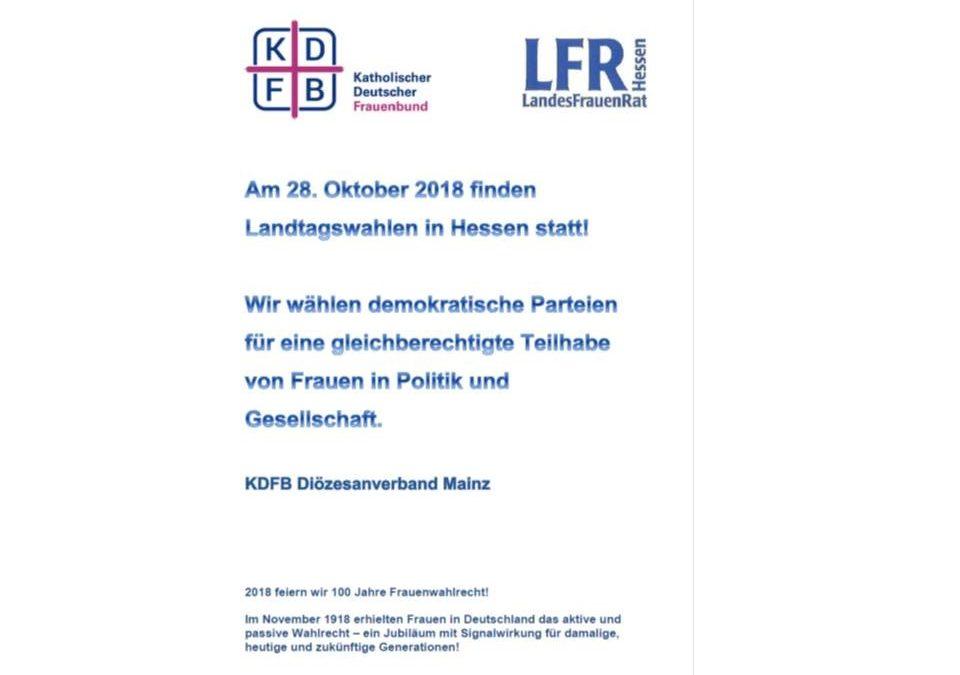 Frauen wählen – Landtagswahl Hessen